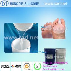 Caoutchouc de silicone liquide de qualité médicale pour les produits Footcare/semelles ou talons