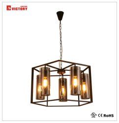 Простой современный популярный подвешивания из черного стекла лампы люстра