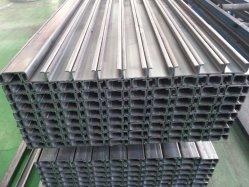 Jb ASTM JIS هيكل القناة العامة الفولاذية الهيكلية على شكل حرف U، القنوات الفولاذية على شكل V، القناة C
