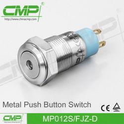 12mm neuer Entwurfs-Edelstahl-Drucktastenschalter