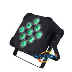 V9 5NO1 Rgbaw alimentada por pilha LED Wireless Flat Slim Luz PAR rodoviário de carga caso
