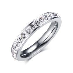 Прямой цена нового стиля Custom из нержавеющей стали Чешская Crystal кольца для женщин леди девочек