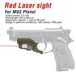 Vista del laser di colore rosso del laser di colore rosso tattico mini per la pistola M92