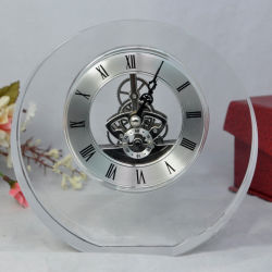 Promotion Giftのための普及したHot Selling Desk Crystal Clock