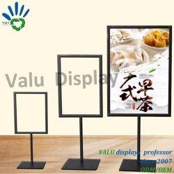 도매 A3 A4 A5 금속 테이블 판지 광고 포스터 배너 보드 스탠드 디스플레이 스탠드