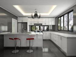 가정용 가구 백색 색상 하이 광택지 래커 마감 모던 주방 캐비닛 디자인