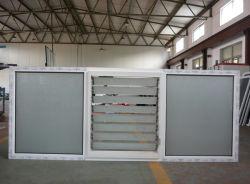 흰색 UPVC 프로파일 프로파일 유리 셔터 창 PVC 루브르