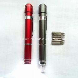 Custom 6 en 1 jeu d'outils à main multifonctions avec lampe torche à LED