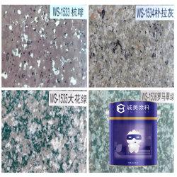 Het opgepoetste Eindigen van de Oppervlakte en Kleur van het Graniet van de Golf van de Vorm van de Steen van de Tegel de Witte