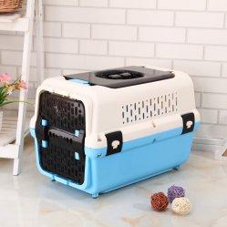 Boîte de compagnie aérienne en plastique PET transporteur Transporteur Pet Pet Comfortabe boîte sécuritaire et transporter la case Boîte de voyager en avion chien durables