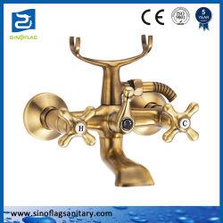 Griff-Badewannen-Bronzehahn des Badezimmer-PVD gesundheitlicher des Mischer-zwei