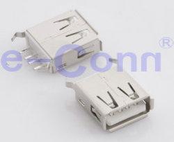 Type USB 2.0 Un récipient PCB DIP vertical fin