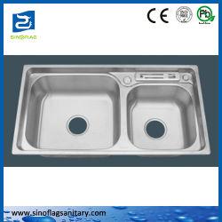 Küchenbedarf-Edelstahl-Küche-Doppelt-Filterglocke-Wanne
