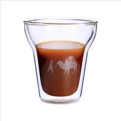 De creatieve Kop van de Koffie van de Cappuccino's van het Glas van Borosilicate van de Kop van de Koffie van Latte van de Muur van de Kop van de Espresso Dubbele