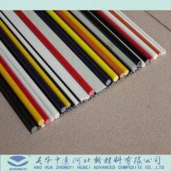 China Alta Resistência colorido GRP de plástico reforçado com fibra de vidro Haste Pultrusion
