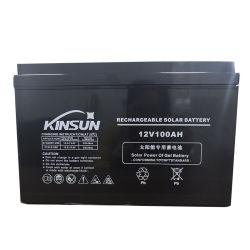 AC facturable 12V 100Ah batterie solaire pour le système hors tension