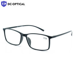 La Chine usine OEM Custom Logo Big Frame lunettes de lecture en plastique portable
