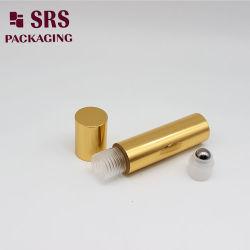 Mini SRS cor dourada de alumínio vazias 10ml de óleo essencial de frascos