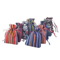 Nuevo diseño de estilo étnico Joyas de algodón de colores Bolsa Bolsa de regalo