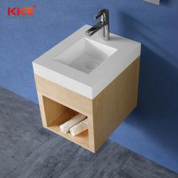 Moderner Badezimmer-Eitelkeits-Schrank-fester Oberflächeneitelkeits-Oberseite-Entwurf