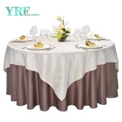 도매 폴리에스테르 웨딩 식탁보 판매 둥근 테이블 천 테이블 린넨