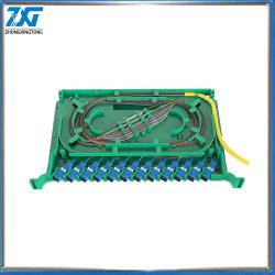 La coleta de fibra óptica FC ODF 12 El Puerto de la bandeja de empalme de fibra óptica