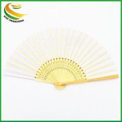 La publicité logo personnalisé imprimé main pliage de papier personnalisé les fans de bambou