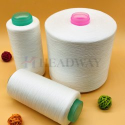 Nós não vendemos fábrica 100% poliéster bonderizado 40/2 grossista ou de cor branca em bruto 100% de fibras de poliéster para acessórios de vestuário