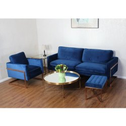 贅沢な現代金の鉄骨フレームファブリック標準的な現代的なソファー