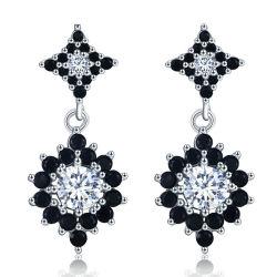 925 de zilveren Echte Fijne Juwelen van de Oorringen Zircon van de Manier Kubieke