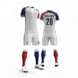 品質の最上質のカスタマイズされた確実な袖デザインサッカーのジャージーキット