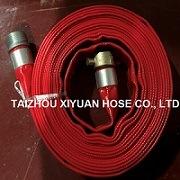 Belüftung-hochfeste Lagen-flacher Schlauch/Wasser-Rohr mit amerikanischem Rot der Kupplung-1inch 6bar