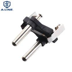 250 V 2 broches Fiche d'alimentation du connecteur AC des inserts (AL-414)