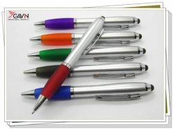 Commerce de gros stock en vrac Curvy torsion métallique Stylus stylo à bille