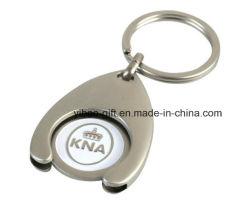 マーケティング(YB-MK-10)のための最も安いトロリー硬貨のキーホルダー