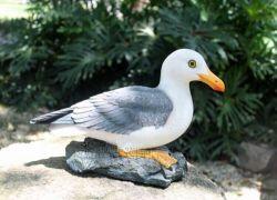 """10"""" de alto Dockside Gaviota estatua de resina de Escultura al Aire Libre Decoración Jardinería"""