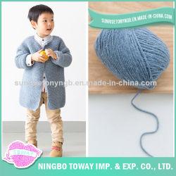 Акрил шерсть хлопок шерстяной ручной работы детей трикотажные свитера