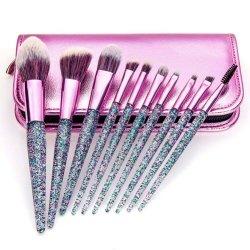 Jeu de brosses de Maquillage professionnel Glitter composent le mélange de fondation de la brosse Blush Eyeliner Eye Shadow sourcil poudre avec le cas de la brosse de maquillage beauté cosmétique
