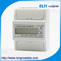 모델 Dds256c 단상 DIN 레일 설치 와트 시간 미터