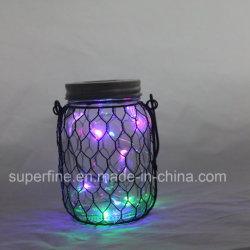 Празднование фестиваля сад висящих металлической сетки со стеклянным кувшином светотехнической продукции