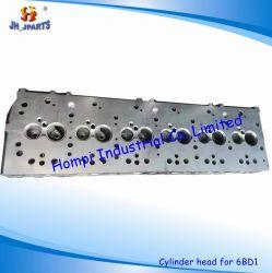 Isuzu 6bd1 6bd1t 1-11110-601-1 1-12310-437-0のためのエンジン部分のシリンダーヘッド