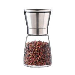 Стеклянная бутылка Spice ручной кухня творческих черный перец молотый перец шлифовального станка