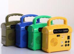 راديو السماعة موسيقى الطاقة الشمسية إضاءة LED المنزلية المحمولة UPS نظام إيقاف طاقة التيار المستمر