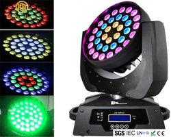 36 PCS moviendo la cabeza RGBW 4 en 1 LED moviendo la cabeza cabezal movible de lavado de Zoom