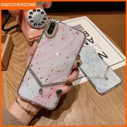 형식 금 하락 접착제 TPU 수정같은 전화 상자 다이아몬드 셀룰라 전화 덮개