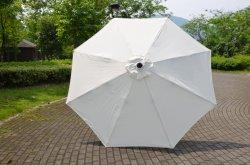 De geborstelde Onstabiele Parasol van het Terras van de Tuin van Pool van het Aluminium Openlucht met Schuine stand
