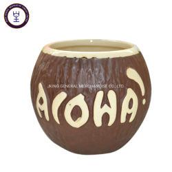 飲料の飲むことのためのココナッツTikiの陶磁器のマグ