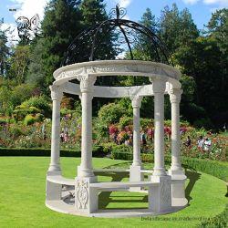 安い価格の屋外の装飾的な大理石の石造りの庭の結婚式のテントの望楼Mgd01