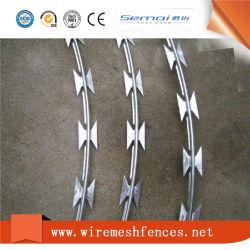 Elevadores eléctricos de arame galvanizado fio navalha de tipo cruzado para o gerador de prisão