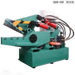 Cizalla Hidráulica automática de chatarra de aluminio de acero de la máquina de cizalla-- (P08-100)